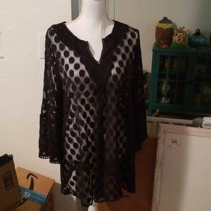 Polka dot detailed blouse